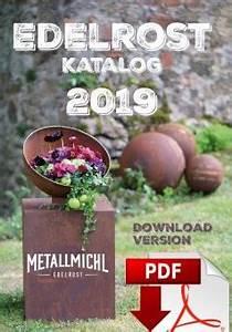 Deko Kataloge Kostenlos : edelrost deko katalog 2019 mit gartendeko rost ideen ~ Watch28wear.com Haus und Dekorationen