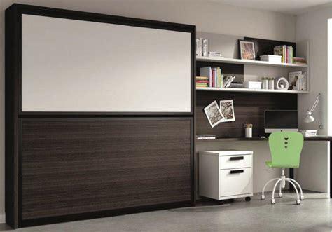lit escamotable avec bureau armoire lit superposee transversale avec bureau integre et