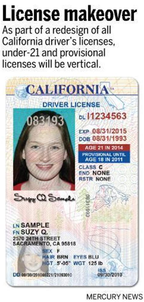 New Look For California Driver's Licenses And Id Cards  The Mercury News