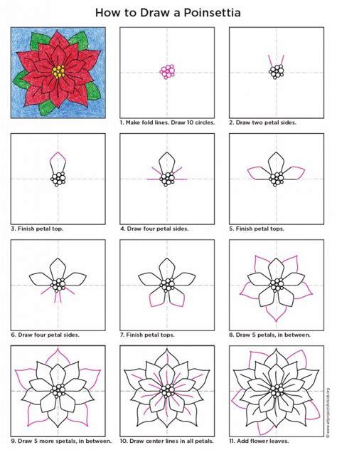 draw  poinsettia art projects  kids