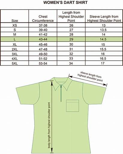 Neck Shirt Chart Mens Bowling Womens Darts