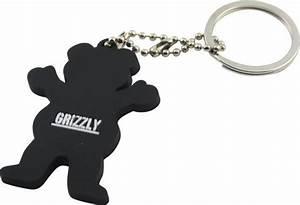 Grizzly Griptape Grizzly Grip Bear Logo Keychain Keychains