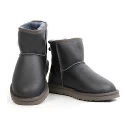 ugg boots sale grey ugg leather mini boots 5854 grey uggzm00000033 grey 105 00 cheap ugg boots on sale uggs