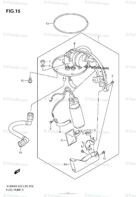 suzuki motorcycle  oem parts diagram  fuel pump