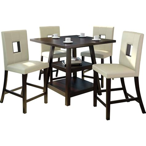 coaster 5 counter height table and chair set