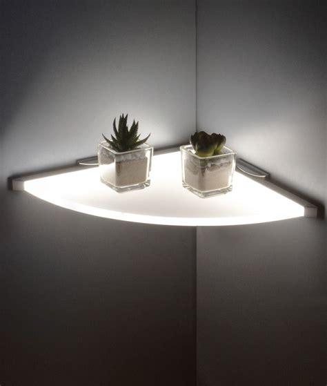 Shelf Lighting by Led Illuminated Corner Shelf Energy Efficient Home In