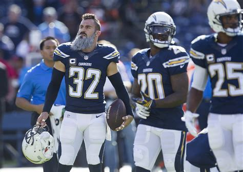 chargers safety eric weddle  pro bowler   san