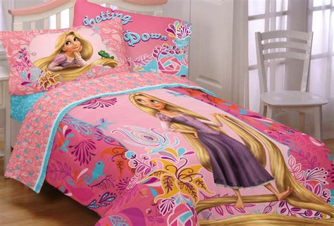 new 4pc disney tangled twin bed in bag princess rapunzel