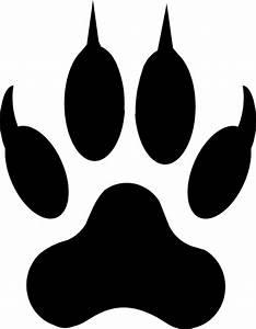 tiger claw stencil clipart best With tiger paw template