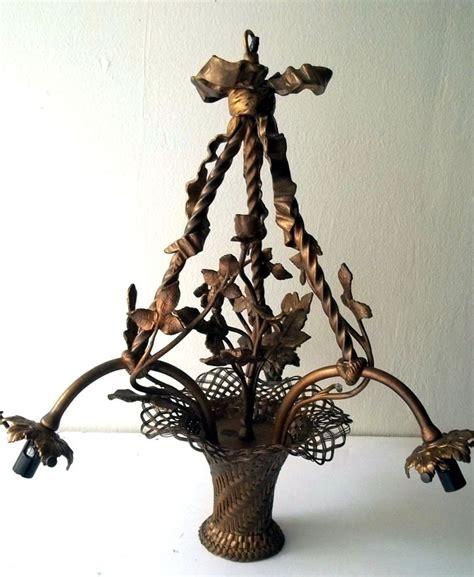 antique basket chandelier details about antique brass chandelier 3