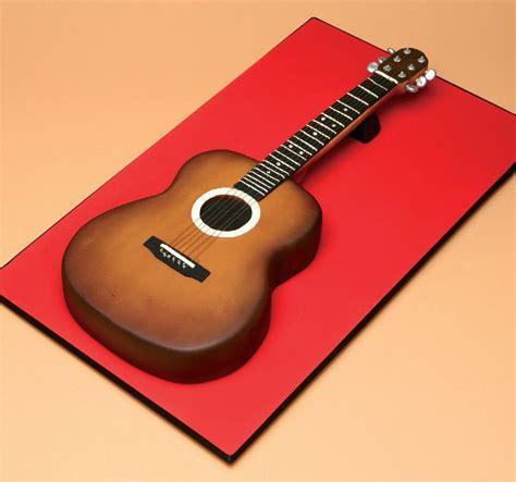 acoustic guitar cake  rhianydd easton cakes