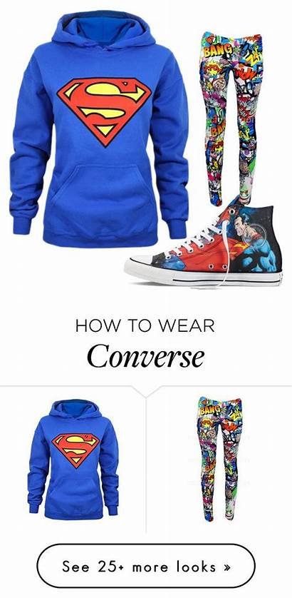 Superman Polyvore Outfits Converse Clothes Emo Comic