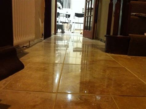 shiny tile floor how to polish travertine repair cracks and holes transform your travertine from dull to