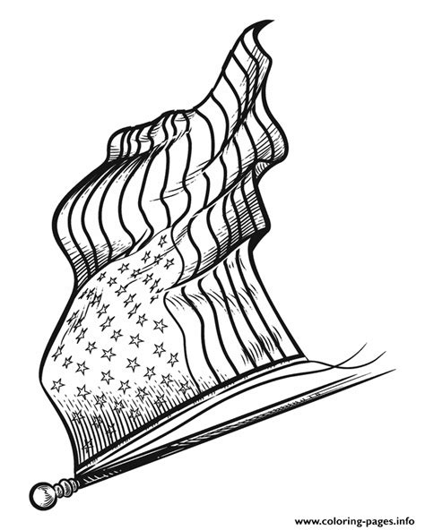 american flag hd complex coloring pages printable