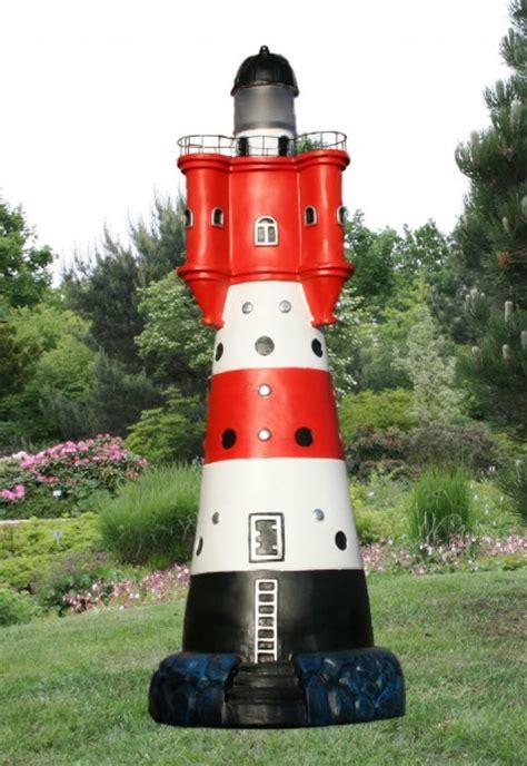gro 223 er deko leuchtturm roter sand garten ca 90cm