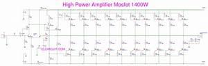 1400 Watt High Mosfet Power Amplifier