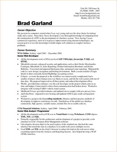 high school resume objective 80 images sle resume