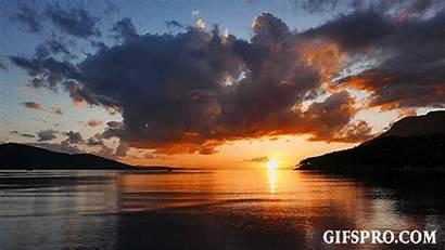 Sunset Lapse Autumn Colorful Aegean Animated Gifspro