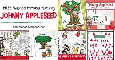 FREE Printable Johnny Appleseed Activities for Preschoolers