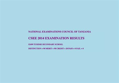 Matokeo Ya Form Two 2016 2017 by Necta Acsee Results Autos Post