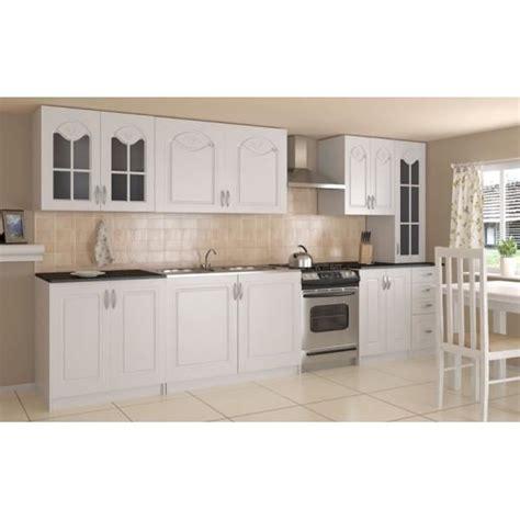 moulure cuisine cuisine complète 300 cm dina blanche avec moulures achat