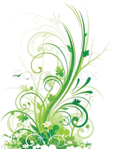 abstrakt dekorativ floral ornament vektorgrafik colourbox