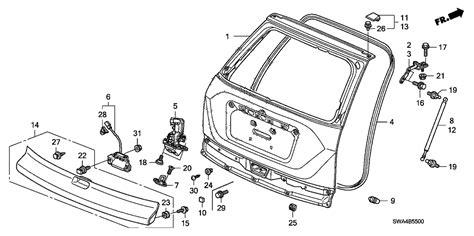 Swa Genuine Honda Switch Assy Tailgate Opener