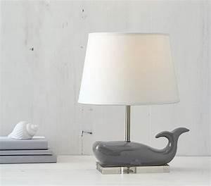 Ceramic Whale Complete Lamp