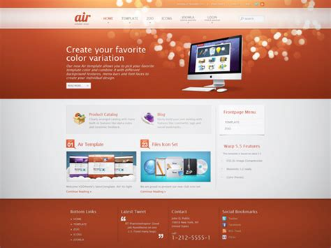 air joomlsa template yootheme air download joomla responsive template
