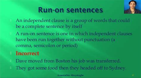 Punctuation Rules  Run On Sentences, Comma Splices And Sentence Fra…