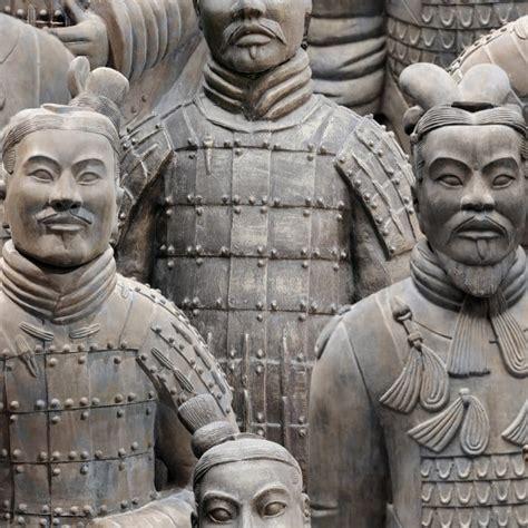 muriva terracotta army wallpaper natural