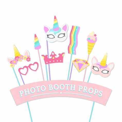 Create your diy project using your cricut explore, silhouette and more. Cute unicorn photo booth party props vector   Free vector ...