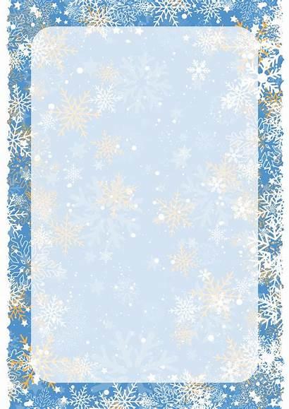 Borders Border Winter Christmas Background Clipart Printable