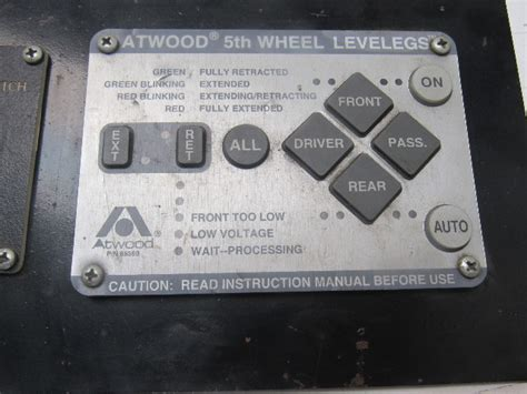 atwood levelegs key pad user interface bullseye