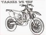 Coloring Motorcycle Yamaha Motocross Printable Coloring4free Wr450f Drawing Colouring Motorcycles Motorbikes Bike Boys Motor Van Getdrawings Adults Filminspector Biker Cycles sketch template