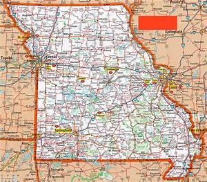 Road Map Of Missouri -