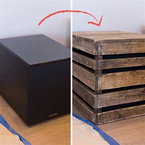 sub box design diy wood side table subwoofer enclosure sue