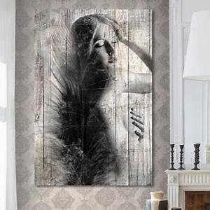 Tableau En Bois Décoration : tableau d co bois de palette noir et blanc ~ Teatrodelosmanantiales.com Idées de Décoration