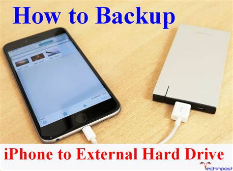backup iphone to external drive guide how to backup iphone to external drive easy