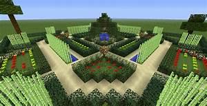 Jardin Minecraft à la française