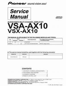 Pioneer Vsa 730 Manual