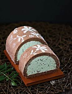 Chocolate Mint Ice Cream Roll | Cooking and Recipes
