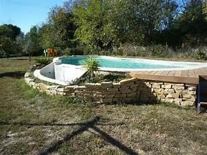 Piscines Semi Enterrées : piscine semi enterr e coque wk83 jornalagora ~ Dallasstarsshop.com Idées de Décoration