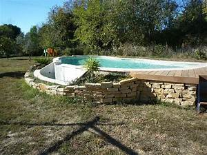 Piscines Semi Enterrées : piscine semi enterr e coque wk83 jornalagora ~ Zukunftsfamilie.com Idées de Décoration