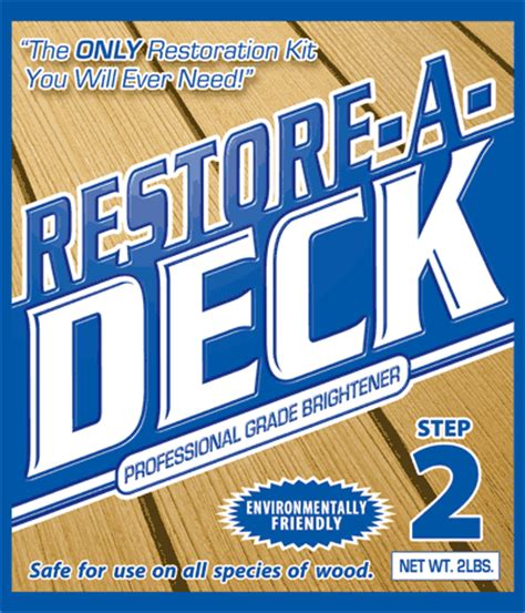 deck brightener oxalic acid restore a deck products restore a deck brightener