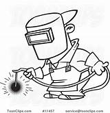 Welder Drawing Clipart Weld Cartoon Illustration Royalty Line Welding Toonaday Leishman Rf Ron Clipground Getdrawings sketch template