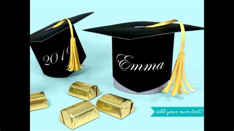 graduation cap favor  candy box printable kit