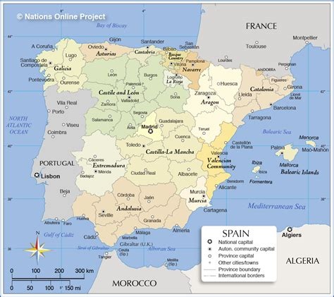 administrative map  spain nations  project