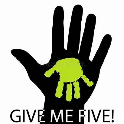 Give Five Vector Hands Symbol Hand Greeting