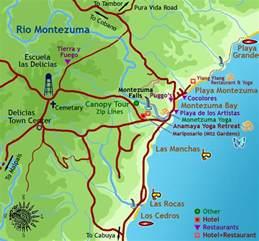 Montezuma Waterfall Costa Rica Map